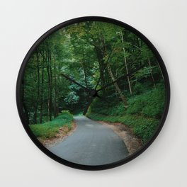Forest route Wall Clock