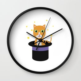 Cat In the magican hat Wall Clock
