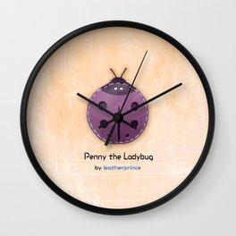 Penny the Ladybug by leatherprince Wall Clock