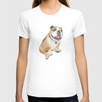 bulldog T-shirts featuring bulldog  by Laura Graves