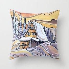 Blanket Mornings :: Single Line Throw Pillow