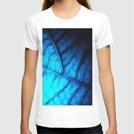 Alien Leaf Abstact in Blue T-shirt