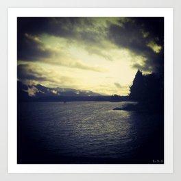 On the Banks: Columbia River Gorge Art Print