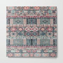 Traditional Multicolore Moroccan Design C11 Metal Print