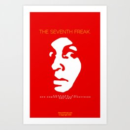 The Freaky Red Poster Art Print