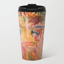 Masquerade Watercolor Painting Travel Mug