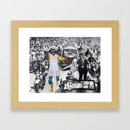 Inauguration Run - Vintage Collage Framed Art Print