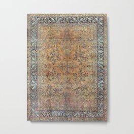 Kashan Floral Persian Carpet Print Metal Print