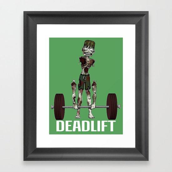 Crossfit Zombie by RonkyTonk doing Deadlift Framed Art Print