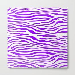 Purple Zebra Metal Print