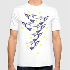 high fly Mens Fitted Tee White SMALL