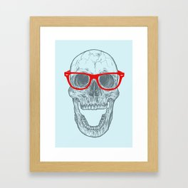 Smart-Happy Skully Framed Art Print