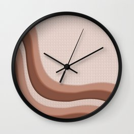 Sherwin Williams Cavern Clay SW7701 Soothing Waves with Canvas Texture Wall Clock
