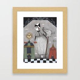 A Circus Story Framed Art Print