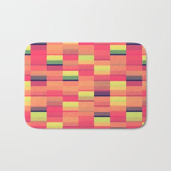 Color Blocks Pattern Bath Mat