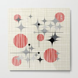 Mid Century Modern Starbursts and Globes 2a Metal Print