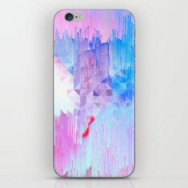 Abstract Candy Glitch - Pink, Blue and Ultra violet #abstractart #glitch iPhone Skin
