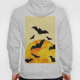 BLACK FLYING BATS FULL MOON ART Hoody