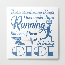Running Gigi Metal Print