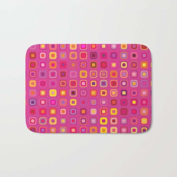 Retro in Pink Bath Mat