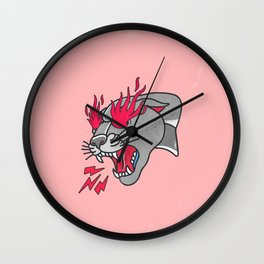 Panther Flame Wall Clock