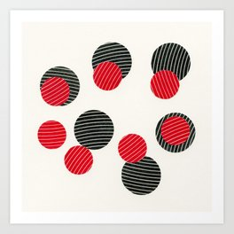 Spots and Stripes Art Print