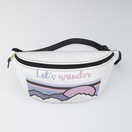 Let's Wander Where The WiFi Is Weak Camping Mountain Hiking TShirt Fanny Pack