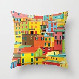 Manarola, Cinque Terre, Italy Throw Pillow
