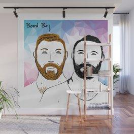 Beard Boy: Buttons and Snaps Wall Mural