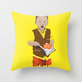 Thought Provoking Kid Throw Pillow