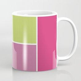 Playful Springtime Geometric Blocks Coffee Mug