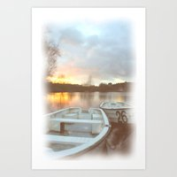 water colour Art Prints featuring Water colour  by Doug McRae