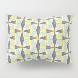 It's complicated. Bold geometric pattern in marsala, yellow and charcoal. Pillow Sham
