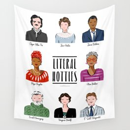 Famous Writers - Literal Hotties Wall Tapestry