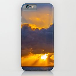 Sunburst at Sunset iPhone Case