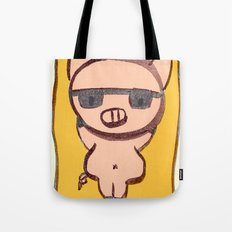 Pig On A Blanket Tote Bag