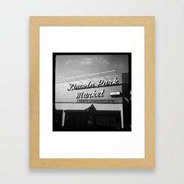 Lincoln Park Market Framed Art Print
