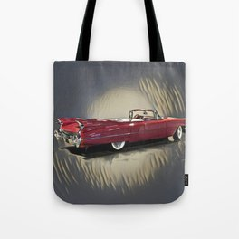 Classic 1959 Red Cadillac Convertible Tote Bag