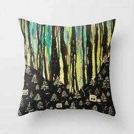 habits and habitats Throw Pillow