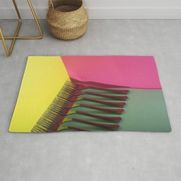 A very simple still life with forks Rug