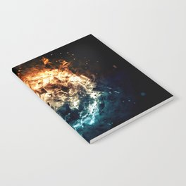 Burning Circle - Fire and Ice - Isolated Notebook