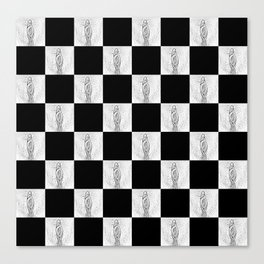 Checkerboard Pussy Canvas Print