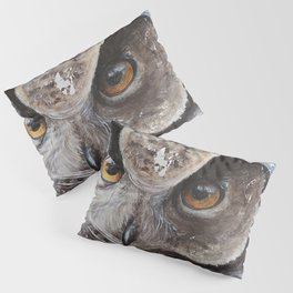 "The Owl - ""Watch-me!"" - Animal - by LiliFlore Pillow Sham"