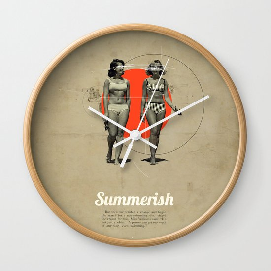 Summerish Wall Clock