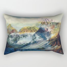 Mountain landscape digital art Rectangular Pillow