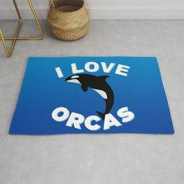 I love orcas Rug