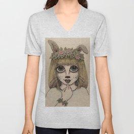 Bunny Girl Unisex V-Neck