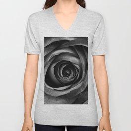 Black Rose Flower Floral Decorative Vintage Unisex V-Neck