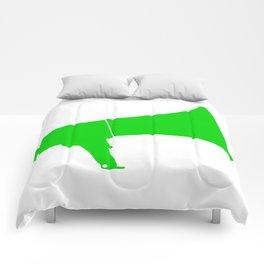 Green Isolated Megaphone Comforters