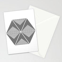 Polygon geometric spectrum Stationery Cards